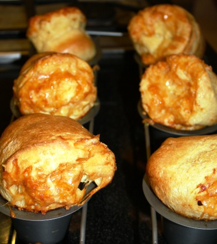 Popovers with Cinnamon Butter by Delishhh