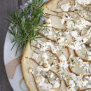 Pear and Rosemary and Goat Cheese Foccacia