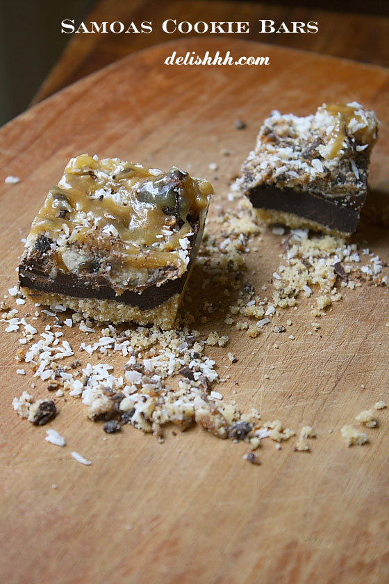 Samoas Cookie Bars