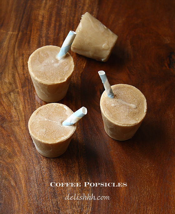 Coffee Popsicles
